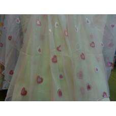 Вуаль-органза Сердце розовое