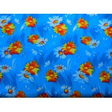 Бязь халатная Ромашки синие