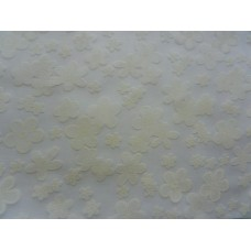 Ткань плательная набивная вытравка бел.